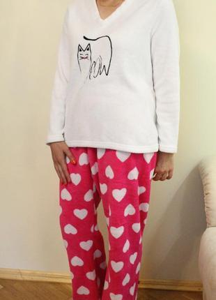 Женская пижама, домашний костюм кошечка, love to lounge размер l
