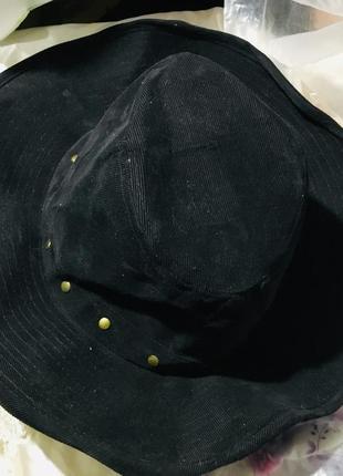 Ковбойская черная шляпа ретро стиль готика классика