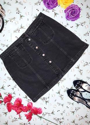 Ультрамодная джинсовая юбка на пуговицах topshop, размер m-l, новая