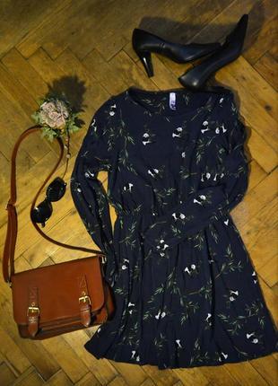Темно-синее платье с пандами henry holland