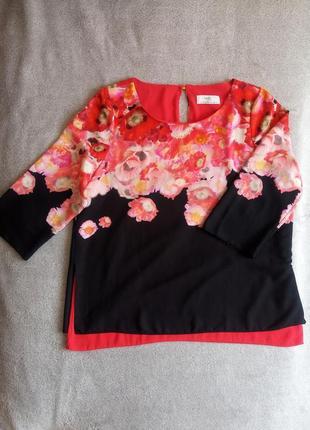 Цветочная яркая блуза wallis