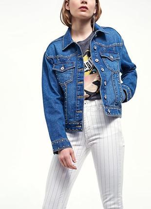 Крутая джинсовка оверсайз stradivarius