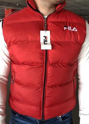 Fila padded waistcoat red