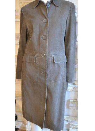 Р.40(на наш 46) актуальное лёгкое фирменное пальто, 100% коттон, шведского бренда hennes