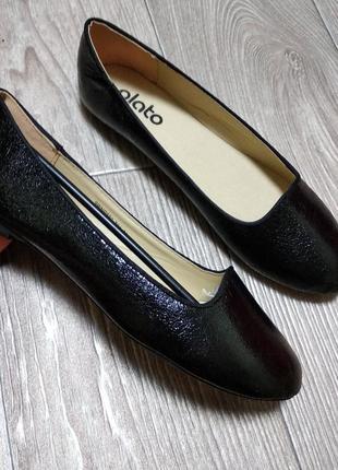 Глубокие балетки туфли лаковые 37,5