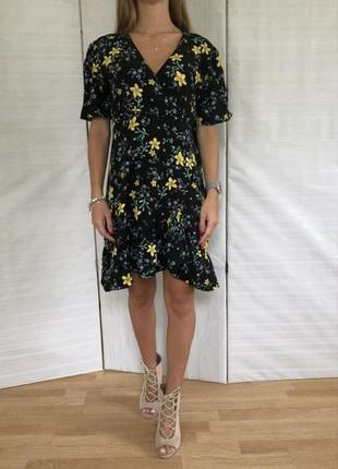 Платье zara модный цветочный принт