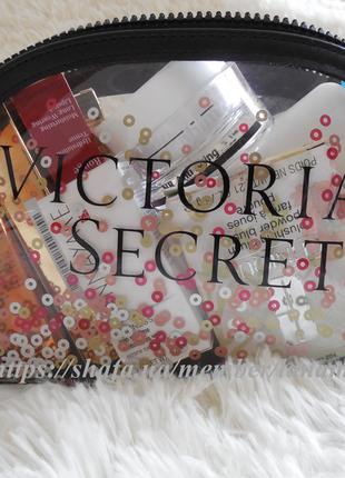 Victoria's secret! большая косметичка, пляжная, для путешествий, в подарок