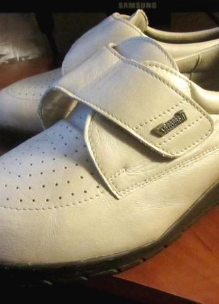 Ортопедические кожаные полуботинки varomed для людей с проблемами ног.