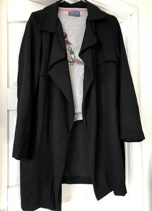 Стильный тренч / чёрный плащ  / пиджак