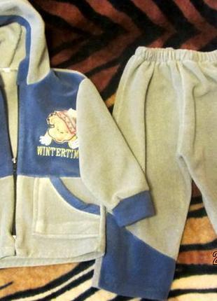 Детский костюмчик из флиса wintertime на 2-3 года