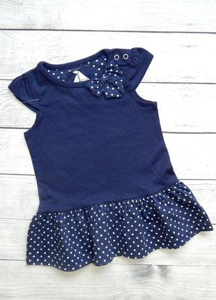 Хлопковое платье tu без рукавов, для девочки 3-6 месяцев.62-68 рост.