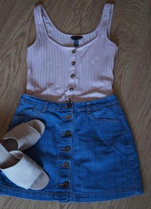 Джинсовая юбка на пуговичках,болтах