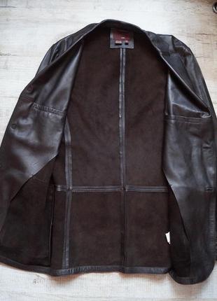 Кожаная  куртка-пиджак zara
