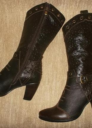 Кожаные ковбойские сапоги на стопу 26,5 см.