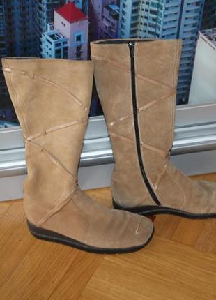 Ботинки зима натуральный замш набивная шерсть