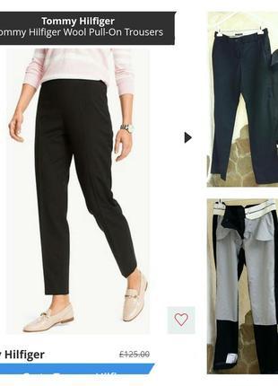 Tommy hilfiger шикарные брюки, тонкая шерсть, л