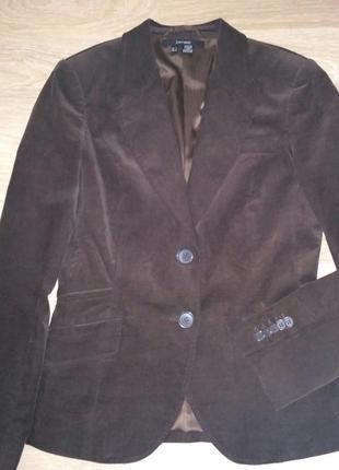 Женский вельветовый пиджак zara basic
