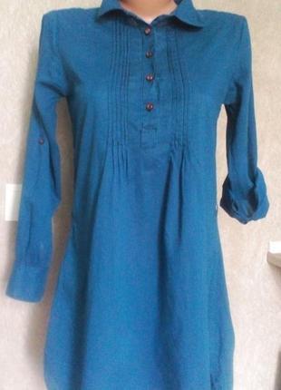 Платье-рубашка в мелкую полоску!