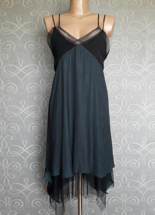 Платье с оборками zara