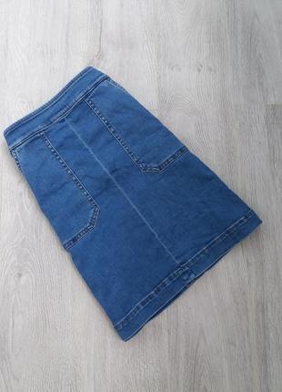 Джинсовая юбка на высокой талии с высокой посадкой
