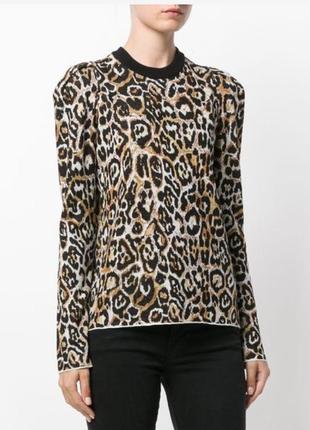 Свитер леопардовый принт размер l