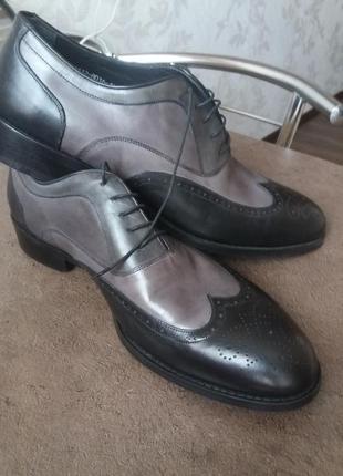 Vero cuoio туфли натуральная кожа италия 43р