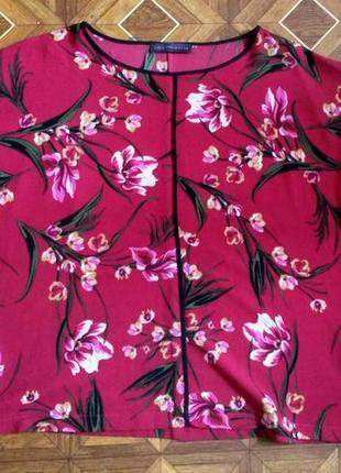 Шикарная блузка в цветочек