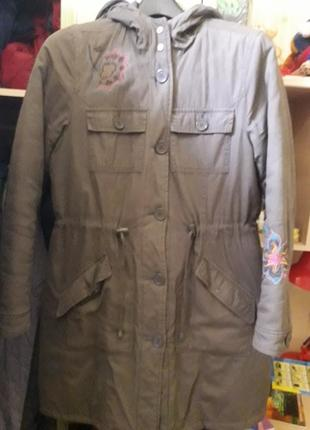 Парка куртка пальто с вышивкой