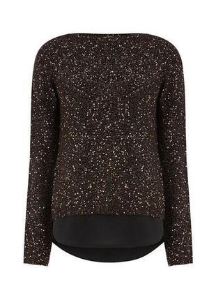 Роскошный свитер  -кофточка с люрексом