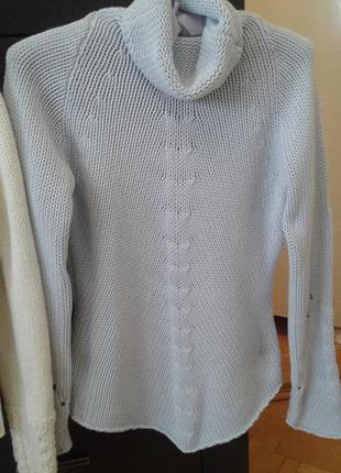 Вязаная кофта свитер гольф