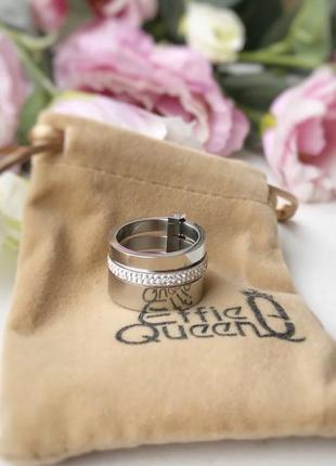 Новое шикарное широкое кольцо бриллиантовой огранки queen