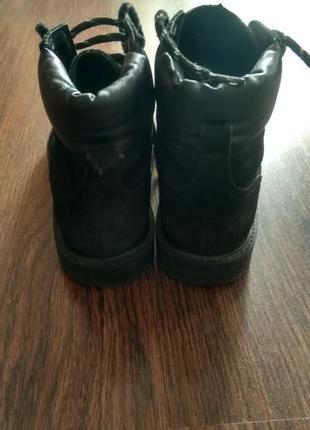 Ботинки замш, кожа 37 размер