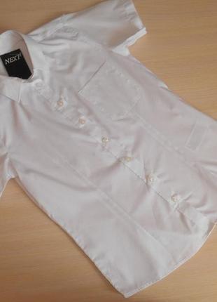 Рубашка белая, школьная next 13 лет, 158 см, оригинал