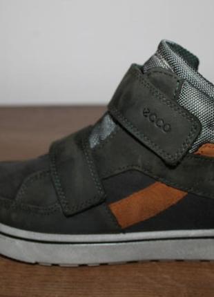 Кожаные ботиночки с мембраной gore-tex ecco glyder, 32 размер 21 см2