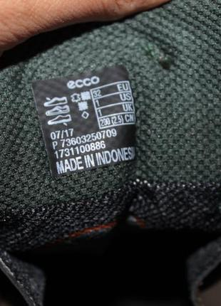 Кожаные ботиночки с мембраной gore-tex ecco glyder, 32 размер 21 см5