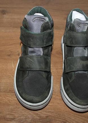 Кожаные ботиночки с мембраной gore-tex ecco glyder, 32 размер 21 см