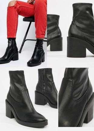Сапоги/ботинки/челси/сапоги-носки/чулки/массивные/толстый каблук/empower chunky sock boots