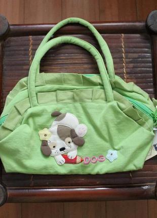 Салатовая сумка с собачкой