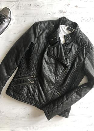 Стёганная куртка косуха кож зам f&f, р. 12