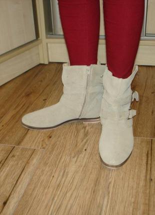Демисезонные ботинки из натуральной кожи бренд vero cuoio
