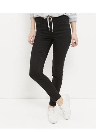 Чёрные джинсы скинни, зауженные штаны из эластичного денима, asos, new look, классические