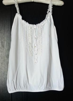 Красивая белая блуза от river island