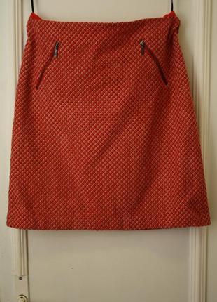Стильная тёплая юбка 50% шерсть