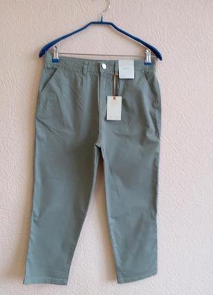 Укороченные брюки с высокой посадкой f&f