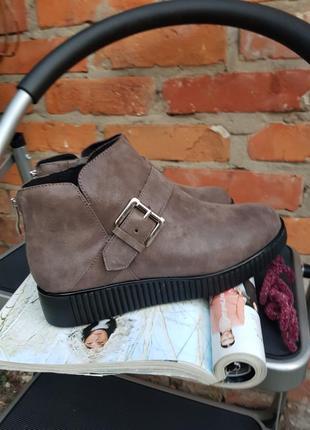 Кожаные утепленные деми ботинки caprice 37 39 41