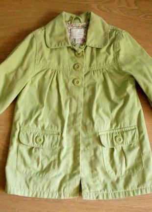 Пальто плащ на девочку next на рост 128 см
