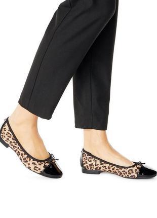 Мягкие комфортные туфли на низком каблуке, балетки леопардовый принт asos br13