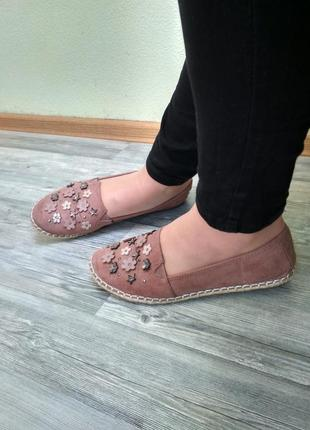 Стильные туфли эспадрильи мокасины лоферы