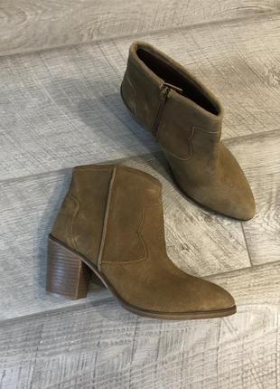 Замшевые ковбойские сапоги, ботинки козачки asos br15