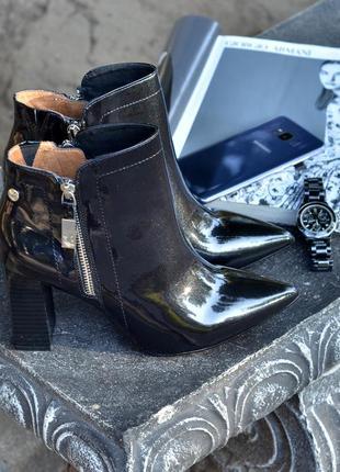 Кожаные суперские ботинки ботильоны caprice р